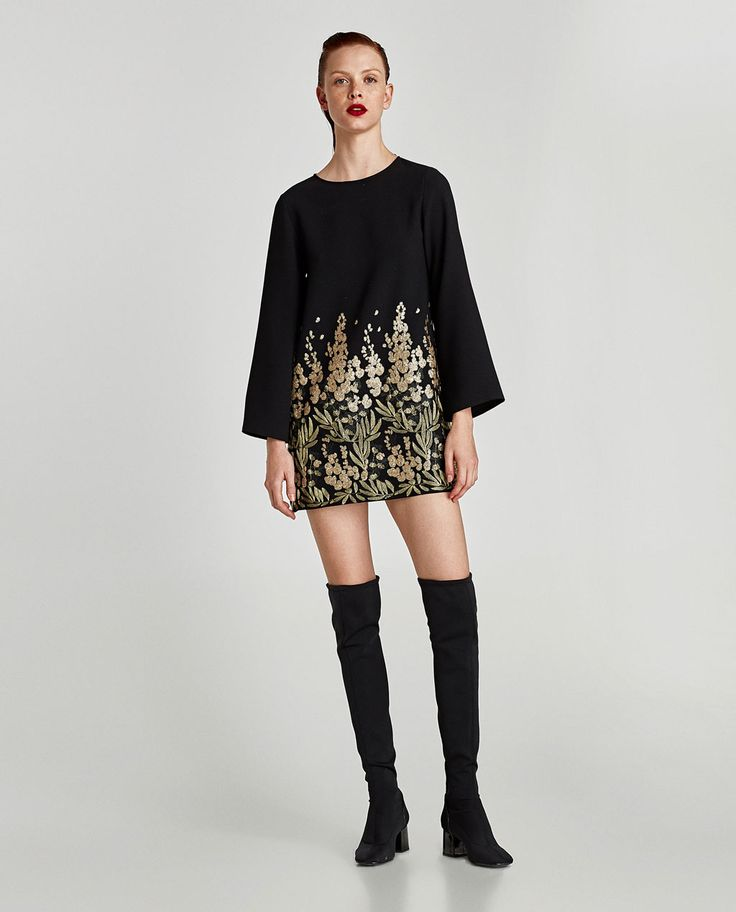 ZARA - WOMAN - MINI DRESS WITH EMBELLISHED EMBROIDERY