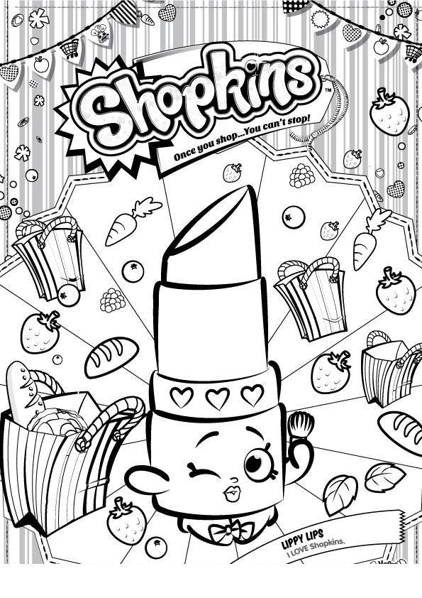 Shopkins Batom Com Imagens Desenhos Para Criancas Colorir