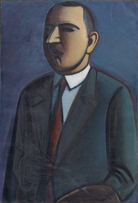 Vilhelm Lundstrøm, Selvportræt, 1927, olie på lærred, 131 x 99 cm | SMK