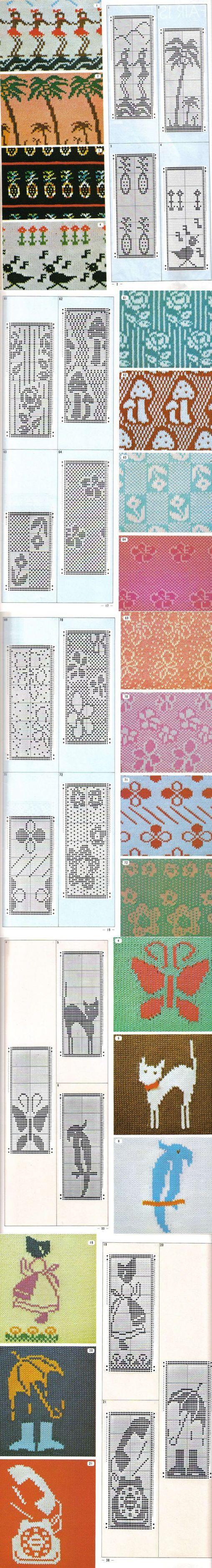 Книга :Pattern Library for Punch Card Knitters №1 1973.ЧАСТЬ 1. | вязание(жаккард,вышивка) | Постила