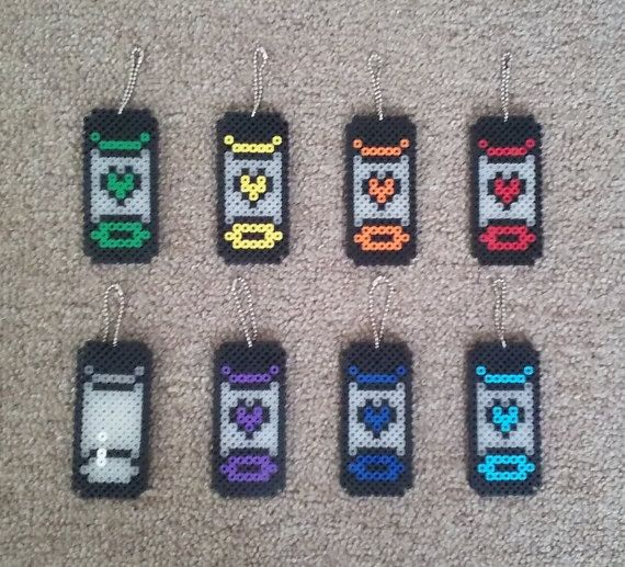 Undertale Mini Soul Container Keychains by TheSleepyBear on Etsy