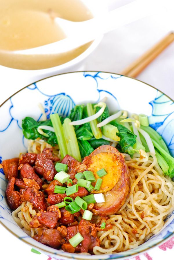 Chinese chicken noodle, Mie ayam