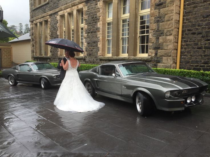 Kacey surprised Josh with two Ford Shelby GT500 Eleanor's for their wedding facebook.com/sydneyeleanorhire