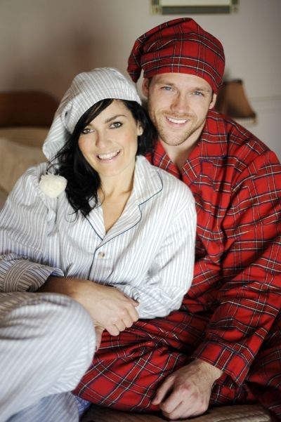 These traditional Irish flannel pyjamas are available in four colours. The cotton pajamas are unisex and are guaranteed for comfort from Lee Valley Clothing's online store.