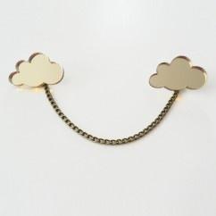 Altın Bulut Broş - #tasarim #tarz #altin #rengi #moda #nishmoda #gold #colored #design #designer #fashion #trend