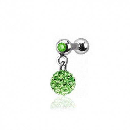 Piercing Oreille 1,2mm Acier Cristal vert et boule Cristaux verts https://piercing-pure.fr/p/631-piercing-oreille-12mm-acier-cristal-vert-et-boule-cristaux-verts.html #piercingtragus #piercingoreille #piercingcartilage #cristaux #bijoux