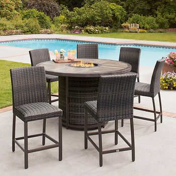 St Louis 5 Piece Fire Chat Set Costco Patio Furniture Rustic