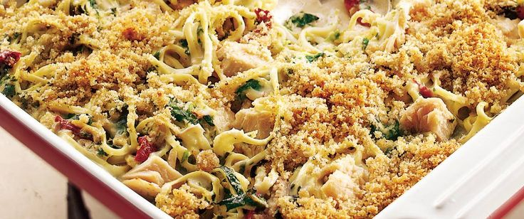 Enjoy this delicious tuna tetrazzini made with pasta, Progresso® bread crumbs and Green Giant® spinach – a delicious Italian dinner.