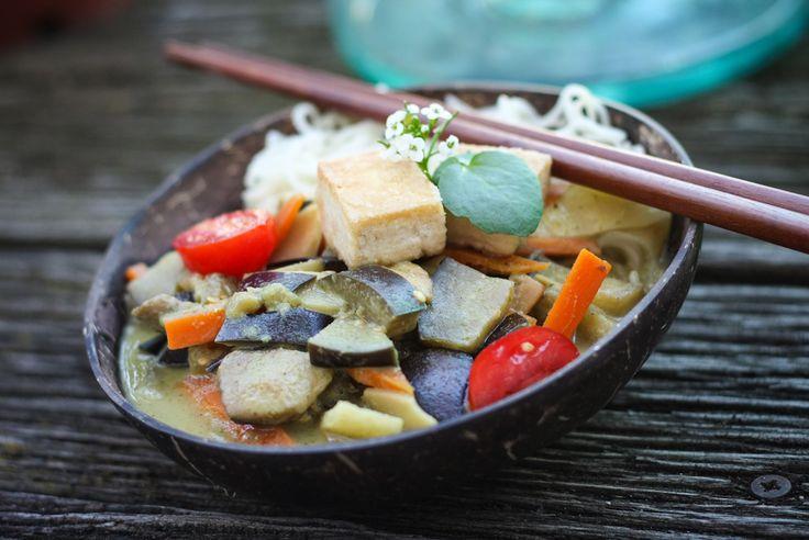 Unser Rezept für den Provamel Veggie Star 2013: Geschmorte Auberginen in Szechuan-Pfeffer-Curry