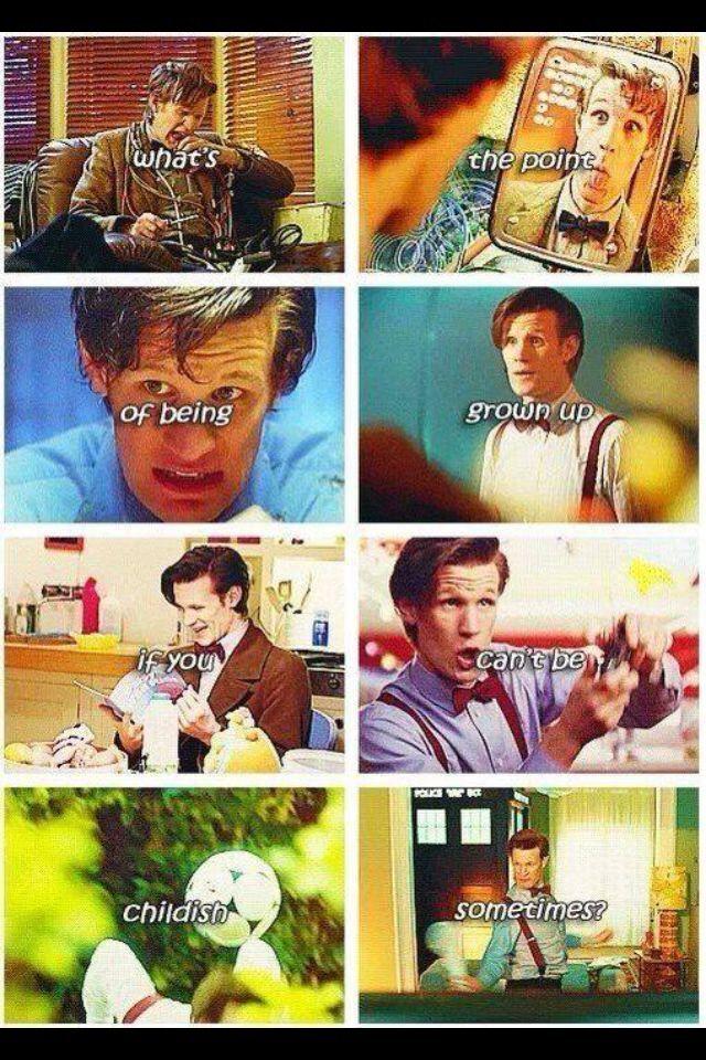 Doctor who funny Matt smith :') eleven