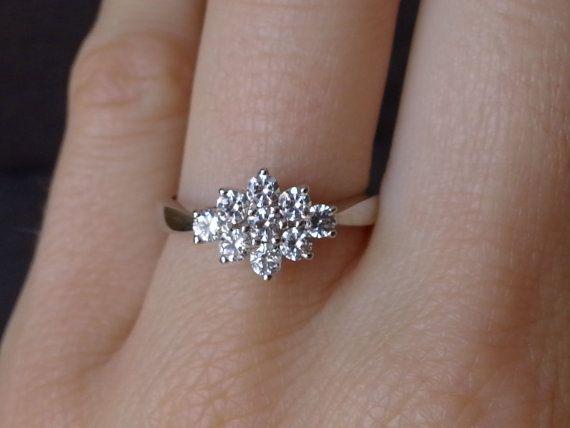 1000 ideas about cluster engagement rings on pinterest. Black Bedroom Furniture Sets. Home Design Ideas