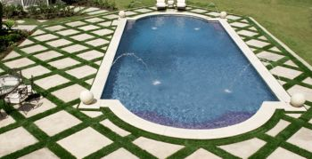Trellises Grass, Stones Obsession, Grass Simplicity, Beautiful Mixed, Man Maid, Pools Surroundings, Grass Bring, Trellis Pattern, Grass Trellis