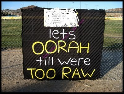 Homecoming sign- have to change it to hooah ---I would have this at home. NOT at the actual ceremony. lol