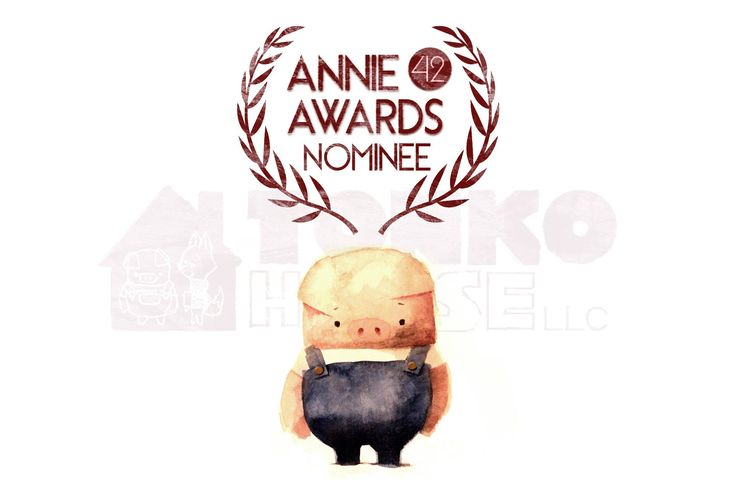 Pig and Fox were hit by another surprise this morning being nominated for the Best Animated Short Film category for the Annie Award. This is an important award for us as it is where our animation community comes together once a year.  We really have to thank people in our community to support The Dam Keeper to join this elite group of other nominees.  With sincere gratitude.  http://www.cartoonbrew.com/award-season-focus/42nd-annie-award-nominations-announced-complete-list-106417.html