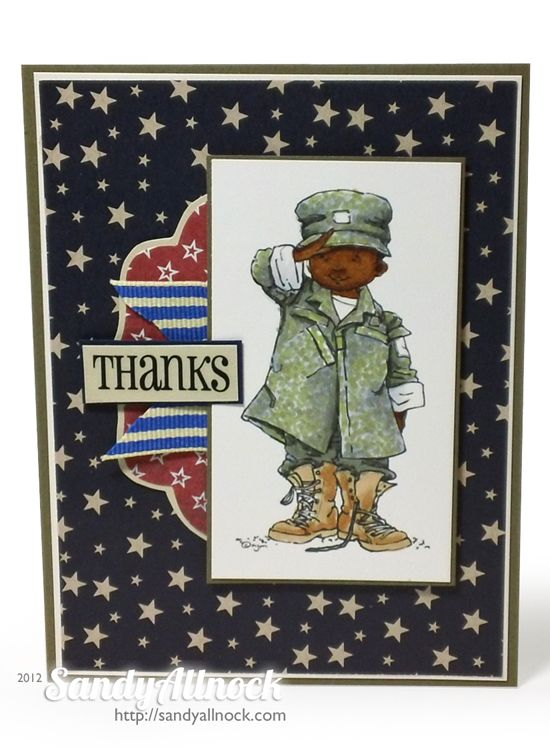 Mo Manning   SRM Stickers patriotic card