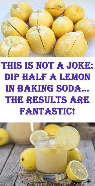 dip half a lemon in baking soda for overall health improvement