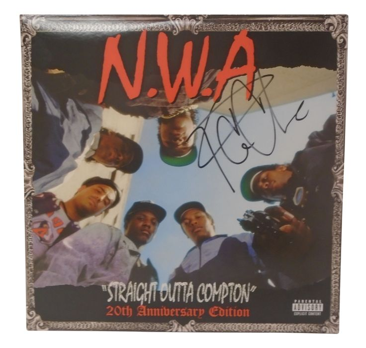 Ice Cube Autographed NWA Straight Outta Compton 20th Anniversary Edition Vinyl Record LP Album Cover, Proof Photo
