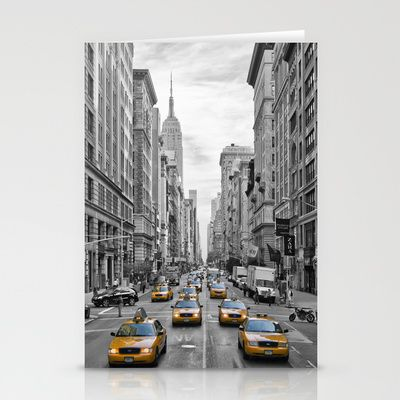 """5th Avenue NYC"" Stationery Cards by Melanie Viola.  Find more online shops here: http://www.melanieviola-fotodesign.de/shops-kunst-kaufen.html"