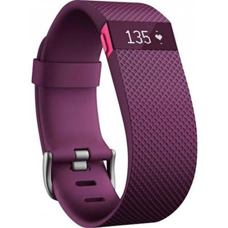 Refurbished Fitbit FB405PMSCAN Charge HR Wristband Small - Plum Sale
