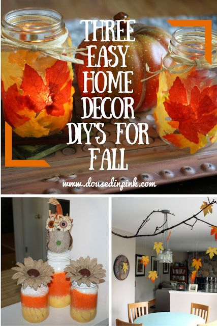 These DIYs are a cute and easy way to decorate your home for fall…