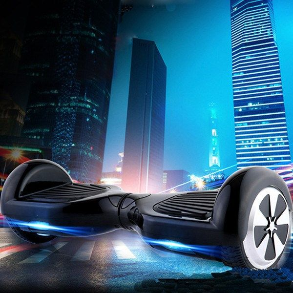 Remote Control Smart Two-Wheel Self Balancing Unicycle Scooters Drifting Board Electric with LED Light Black