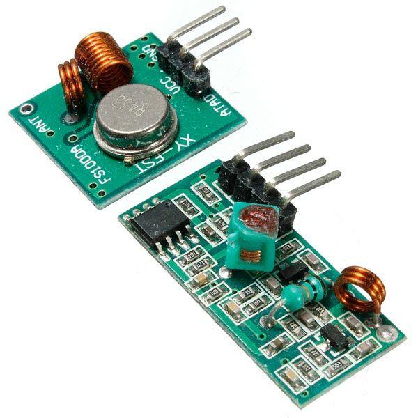 Transmisor rf 433mhz con kit de receptor para el brazo arduino MCU inalámbrico