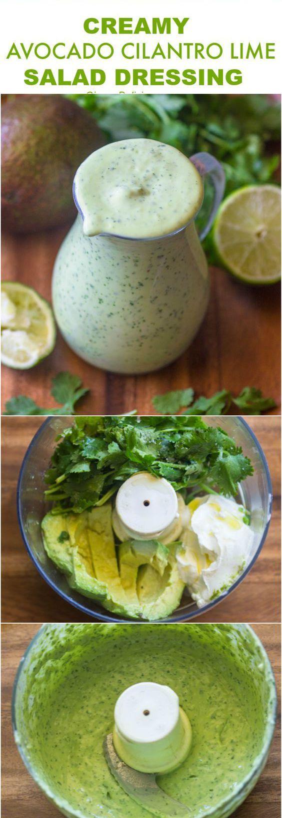 Healthy Creamy Avocado Cilantro Lime Dressing Healthy Recipes - food, healthy, recipes