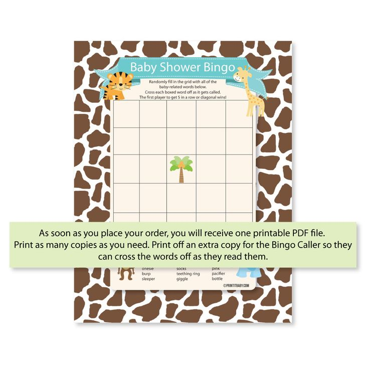Baby Shower Bingo Instructions And Printable Game