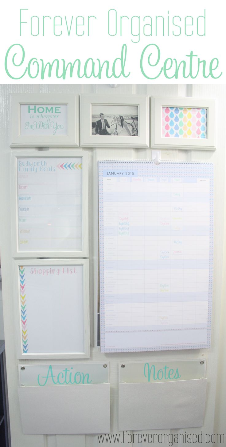 love this command center & colorful printables she used