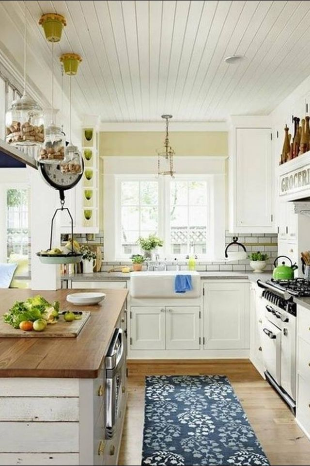 Country Cottage Kitchen Ceiling For The Home Kitchen Pinterest