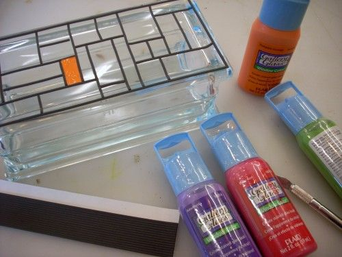glass block craft ideas | Krafty Blok - A Glass Block and Gallery Glass Craft | Vicki O'Dell ...