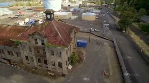 WATCH: Drone video of the Portland Gas & Coke building takes viewers up close as NW Natural prepares to demolish the abandoned goth Victorian structure.