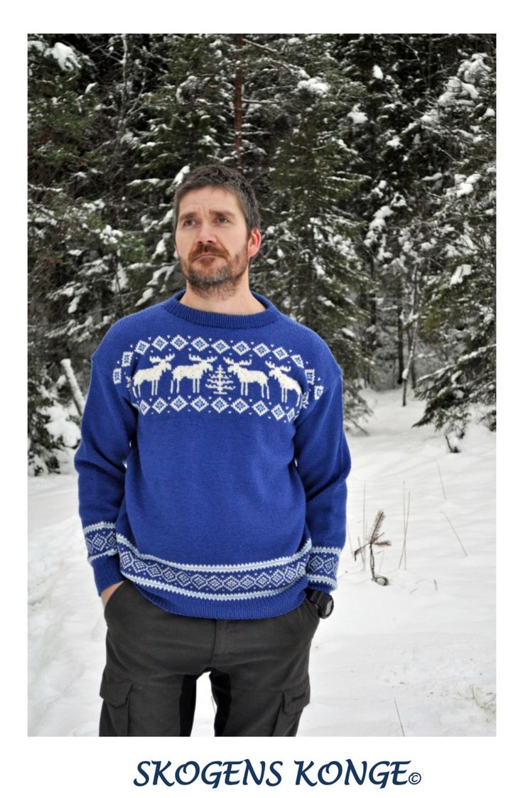 Knitted mans sweather wool