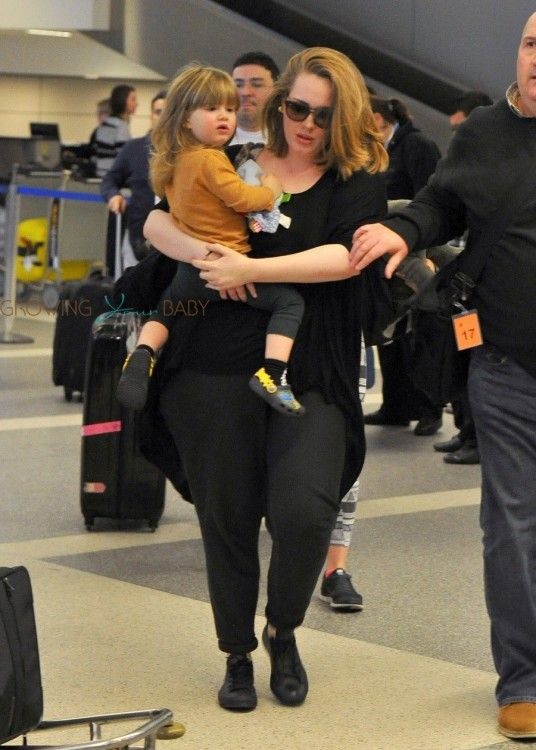 Image: Adele with her son Angelo