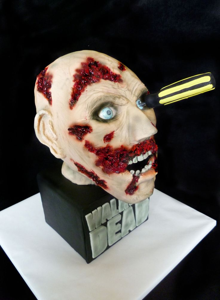 amc walking dead zombie head cake halloween amc walking dead zombie head cake halloween amc walking - Zombies Pictures For Halloween