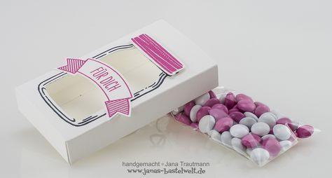 Verpackung für kleine Süßigkeiten basteln mit Stampinup