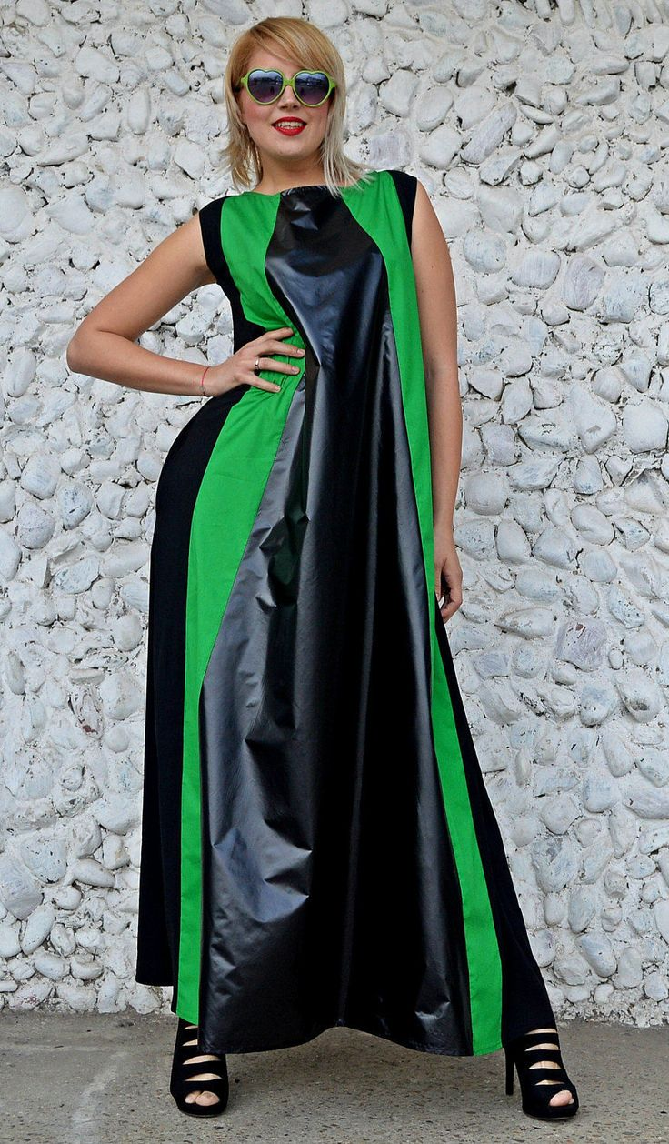 New in our shop! Long Flared Black and Green Maxi Dress, Extravagant Slicker Dress with Green Stripes, Striped Maxi Dress TDK244, RISE https://www.etsy.com/listing/502399920/long-flared-black-and-green-maxi-dress?utm_campaign=crowdfire&utm_content=crowdfire&utm_medium=social&utm_source=pinterest