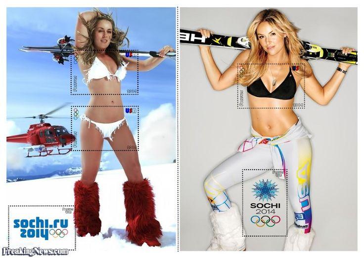 Lindsay Vonn Winter Olympics Stamp