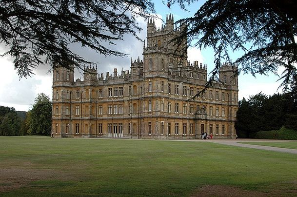 "Downton Abbey--A REAL place (and home to the Carnarvon Family) in England and location of the wonderful BBC series ""Downton Abbey."""