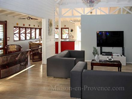 The living room of the holiday rental Villa at Saint-François ,Guadeloupe - photo 22469 Credits Maison en Provence (TM) / The owner