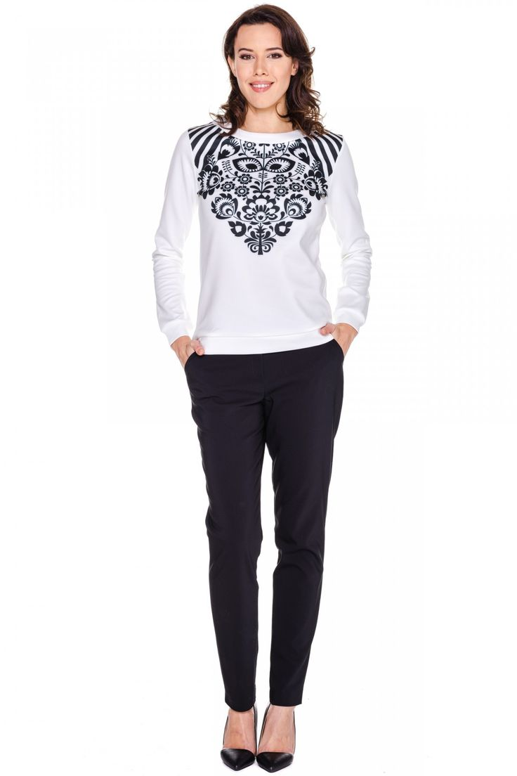 Bluza z folkowym motywem - MORE'MOI - 125649