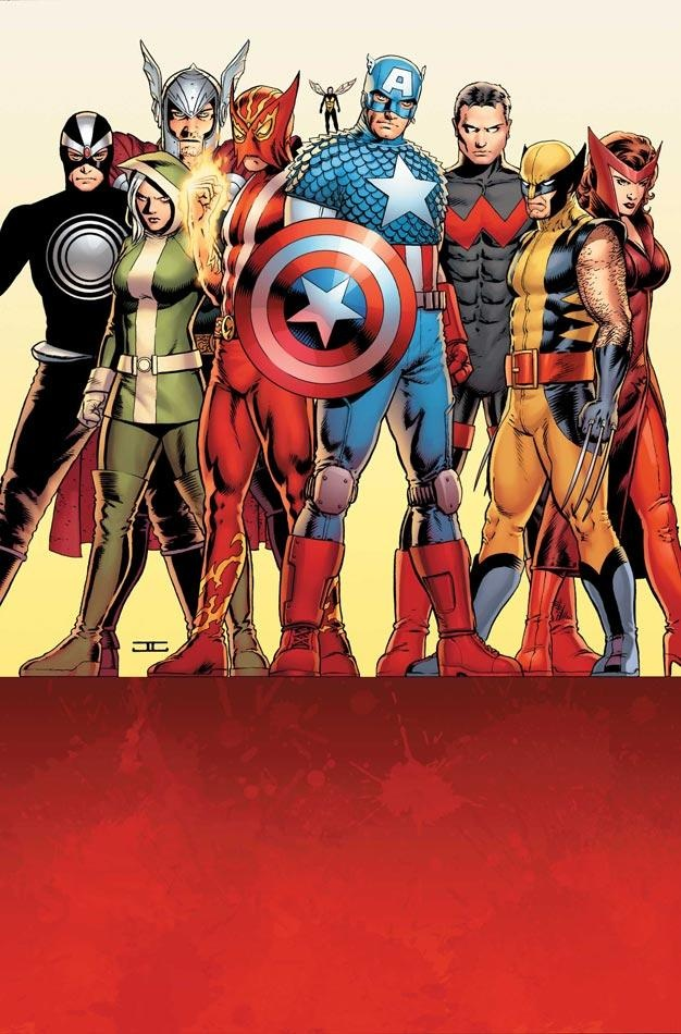 Sunfire, Wasp, and Wonder Man join the Uncanny Avengers ~ art by John Cassaday