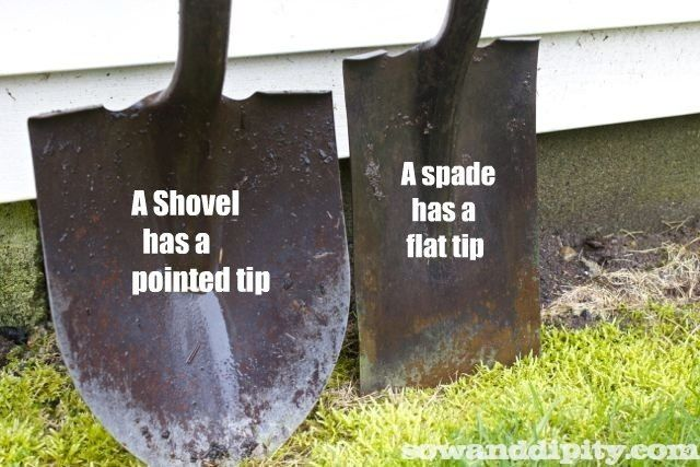 So what is the difference between a shovel and a spade anyways? You'll be surprised by the answer....