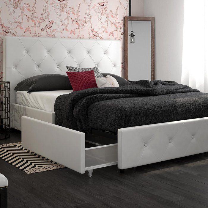 Fareham Upholstered Storage Platform Bed Platform Bed With