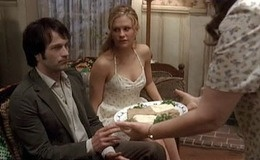 "Bill Compton comes to call on Sookie Stackhouse in the episode ""The First Taste""..."