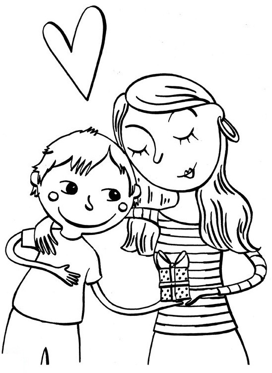16 best coloriage maman papa images