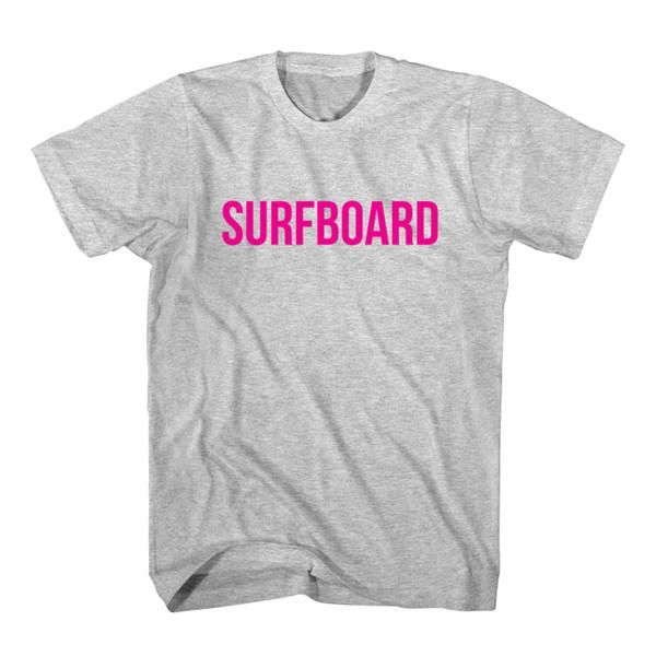 T-Shirt Surfboard unisex mens womens S, M, L, XL, 2XL color grey and white. Tumblr t-shirt free shipping USA and worldwide.