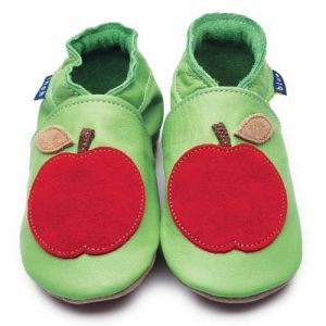Apple Green Inch Blue Shoes - Soft Handmade Leather Baby Shoes