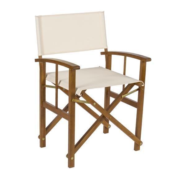 Sedia regista in legno di acacia