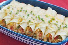 Enchiladas au poulet crémeux